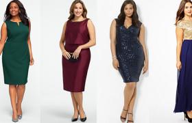 Новогодние наряды для полных леди