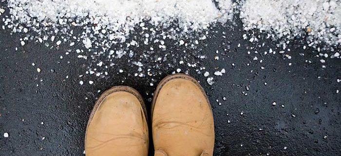 Как защитить обувь от соли