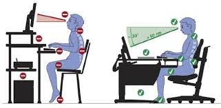 За рабочим столом необходимо сидеть, соблюдая ряд правил